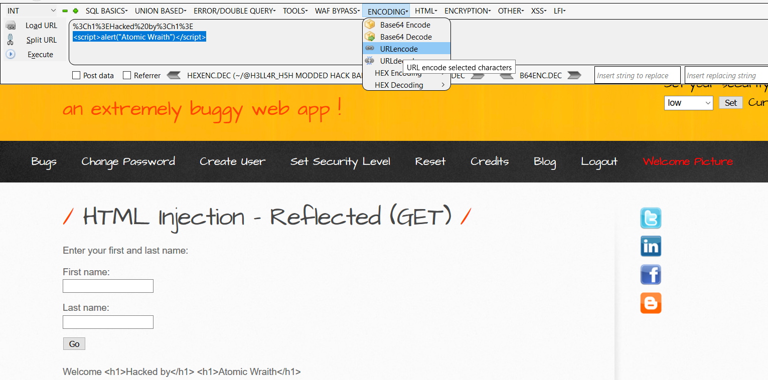 bwapp html injection how to 1