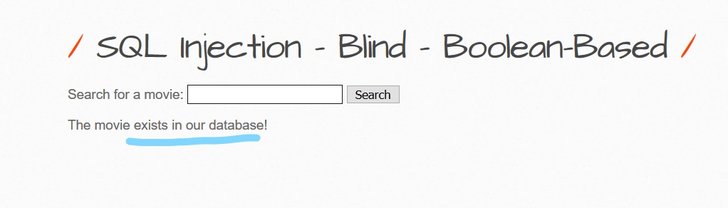 Blind boolean based SQli bwapp